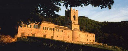 Italy Badia a Coltibuono Late Afternoon Facade copy