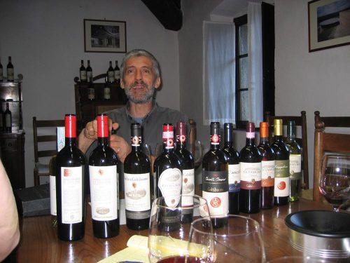 Italy Villa Badia Coltibuono tasting Roberto